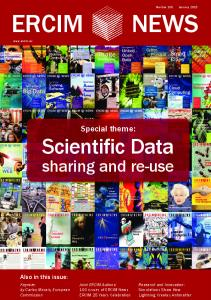 Scientific Data Sharing and Re-use - ERCIM News