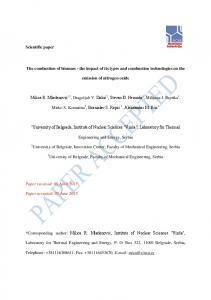 Scientific paper The combustion of biomass - the