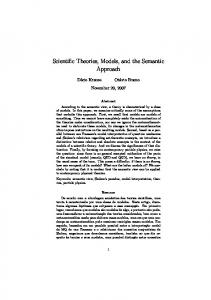 Scientific Theories, Models, and the Semantic