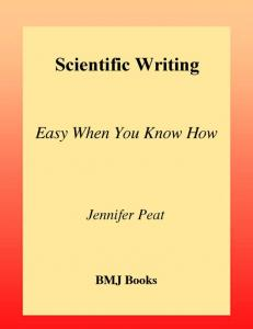 Scientific Writing Easy when you know how