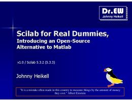 Scilab for Real Dummies