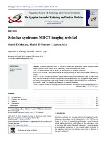 Scimitar syndrome: MDCT imaging revisited - Core