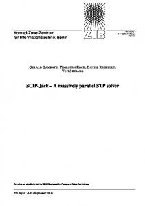 SCIP-Jack – A massively parallel STP solver - OPUS 4