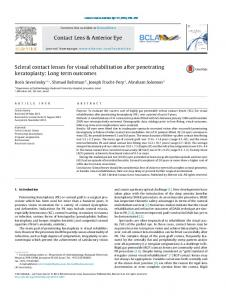 Scleral contact lenses for visual rehabilitation after penetrating ...