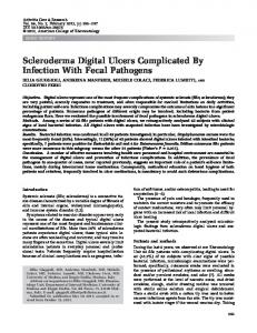 Scleroderma digital ulcers complicated by ... - Wiley Online Library