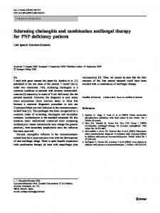 Sclerosing cholangitis and combination antifungal ... - Springer Link