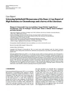 Sclerosing Epithelioid Fibrosarcoma of the Bone: A Case Report of ...