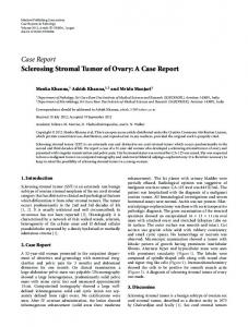 Sclerosing Stromal Tumor of Ovary: A Case Report