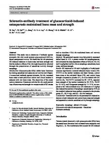 Sclerostin-antibody treatment of glucocorticoid-induced osteoporosis ...
