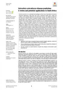 Sclerotinia sclerotiorum disease prediction - South African Journal of ...