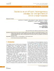 Scolecite as an efficient heterogeneous catalyst for the ... - Springer Link