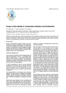 Scope of Biomaterials in Conservative Dentistry and ... - MedIND