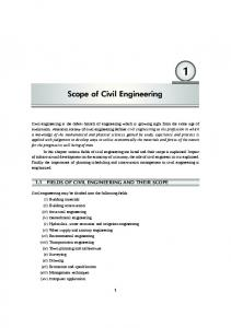 Scope of Civil Engineering - New Age International