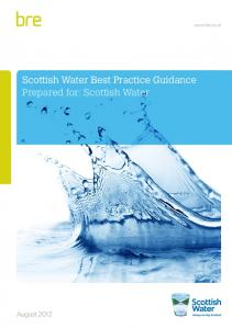 Scottish Water Best Practice Guidance Prepared for: Scottish ... - BRE