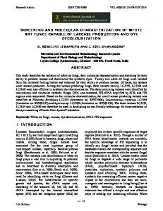 screening and molecular characterization of white rot fungi capable of ...