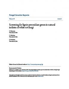 Screening for lignin peroxidase genes in natural ... - New Prairie Press