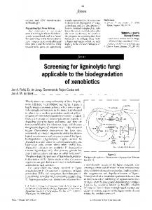 Screening for ligninolytic fungi applicable to the ... - ScienceDirect