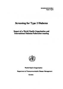 Screening for Type 2 Diabetes