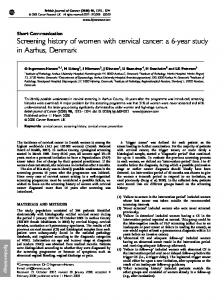 Screening history of women with cervical cancer: a 6 ... - BioMedSearch