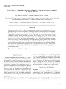 screening of inducers for laccase production by ... - Semantic Scholar