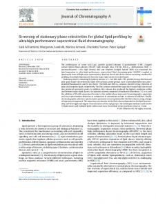 Screening of stationary phase selectivities for global