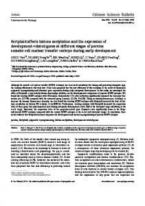 Scriptaid affects histone acetylation and the expression of ...
