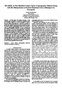SD-AREE: A New Modified Caesar Cipher Cryptographic ... - arXiv