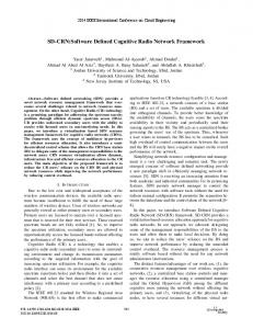 SD-CRN: Software Defined Cognitive Radio Network ... - IEEE Xplore
