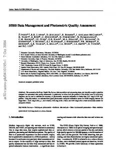 SDSS Data Management and Photometric Quality Assessment