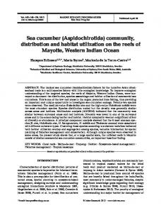 Sea cucumber (Aspidochirotida) community, distribution and habitat ...
