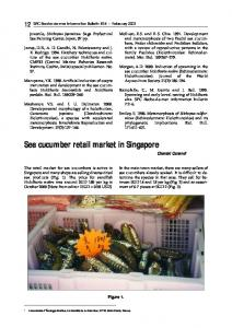 Sea cucumber retail market in Singapore