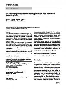 Seabirds as agents of spatial heterogeneity on New ... - Springer Link