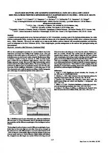 seafloor mapping and acoustic geophysical data of a ...
