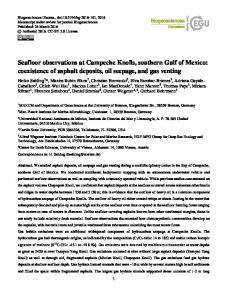 Seafloor observations at Campeche Knolls, southern ...