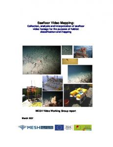 Seafloor Video Mapping - EMODnet Seabed Habitats