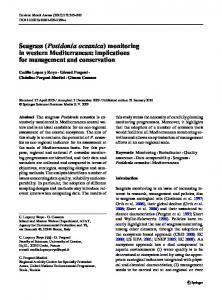 Seagrass (Posidonia oceanica) monitoring in western Mediterranean ...