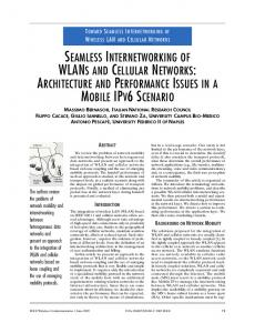 seamless internetworking of wlans and cellular networks