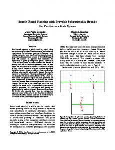 Search-based Planning with Provable suboptimality bounds