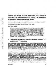 Search for solar axions produced by Compton process and ...