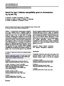 Search for type 2 diabetes susceptibility genes on ... - Nature