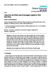 Search Strategies Applied in Web Searching - Pak Academic Search