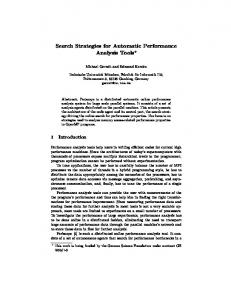 Search Strategies for Automatic Performance Analysis Tools.