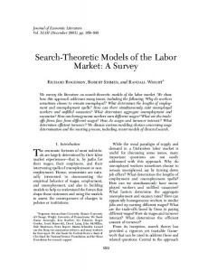 Search-Theoretic Models of the Labor Market: A Survey