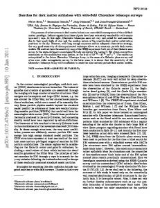 Searches for dark matter subhaloes with wide-field Cherenkov ...