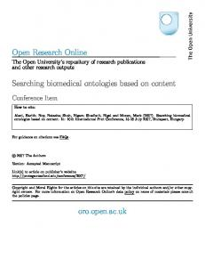 Searching biomedical ontologies based on content