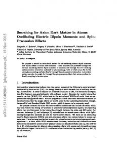 Searching for Axion Dark Matter in Atoms: Oscillating Electric Dipole ...