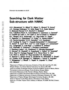Searching for Dark Matter Sub-structure with HAWC