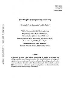 Searching for Supersymmetry scalelessly