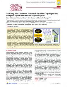 Searching New Crystalline Substrates for OMBE ... - ACS Publications