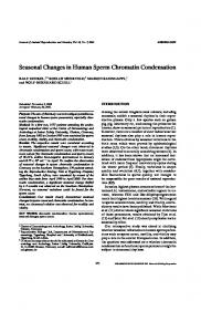 Seasonal Changes in Human Sperm Chromatin Condensation